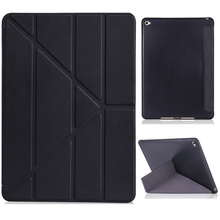 Ultra Slim PU Silicone Soft Back Case For iPad 9.7 2017 2018 A1822 A1893 Transformers Cover for new