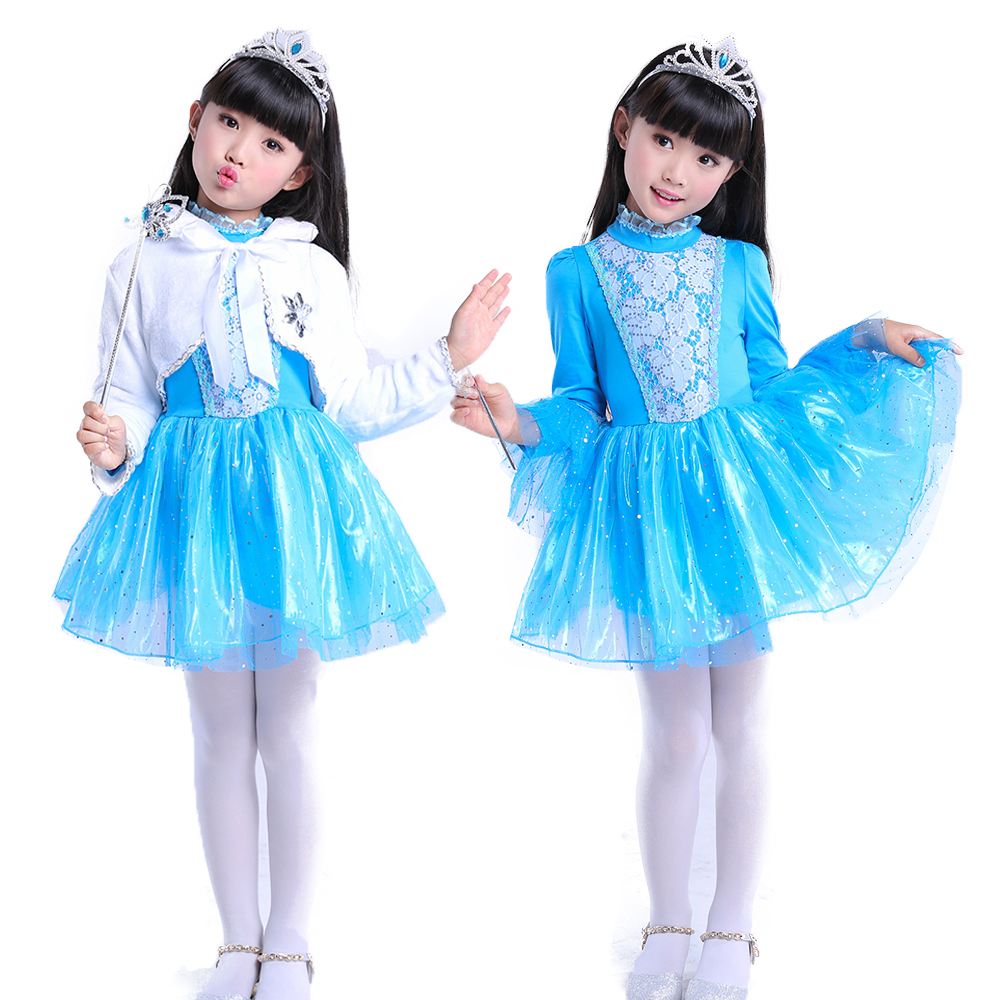 Girl costume queen Dresses Cinderella Princess Dress Wedding Dress Party Girl long sleeves Clothes Christmas Gift  Clothes girl dresses cinderella dress costume princess party dresses girls christmas clothes fresh butterfly dress for teenagers