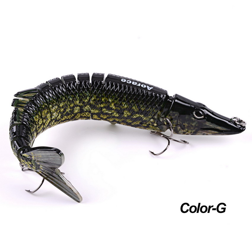 1PCS 30cm 226.64g Swimbait Fishing Lures Fishing Wobblers 13 Segments Swimbait Crankbait Fishing Lure Bait with Artificial Hooks 1pcs 12cm 14g big wobbler fishing lures sea trolling minnow artificial bait carp peche crankbait pesca jerkbait ye 37