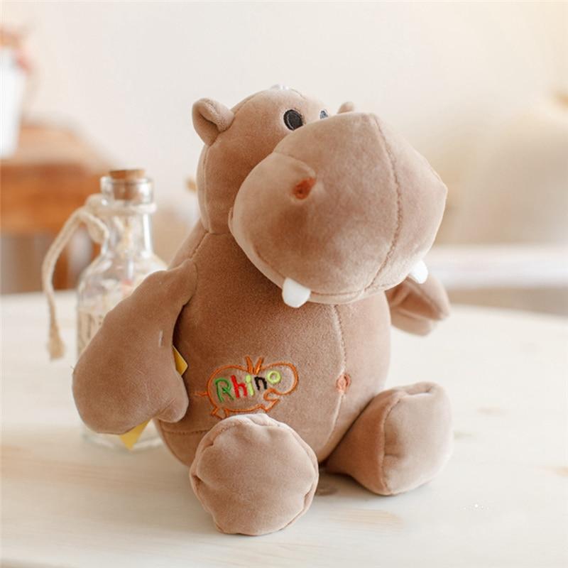 3 Styles Soft Side Stretch Hippo Dolls Baby Toys Stuffed Soft Doll ...