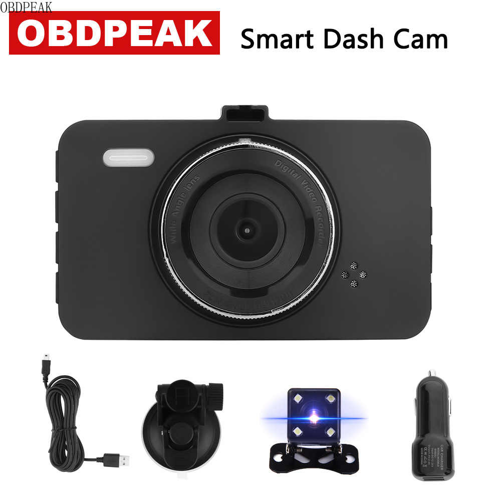 "Smart Dash Camera 170 Degree 3.0"" 1080P 30fps dash cam Rearview Mirror Digital Video dashcam Recorder Dual Lens Car DVR"