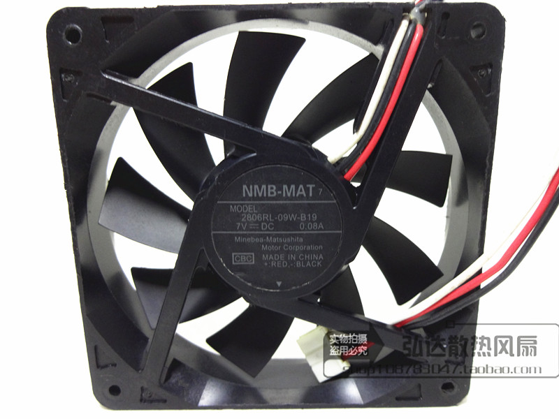 NMB-MAT 2806RL-09W-B19 CBC DC 7V 0.08A    70x70x15mm Server Square  Fan гирлянда с насадками richled 3x0 7 м rl psf3 0 7c w b