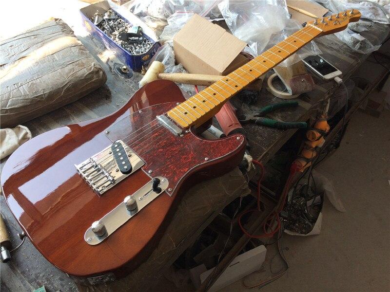 Electric guitar +mahongany body/brown color guitar/guitar in china