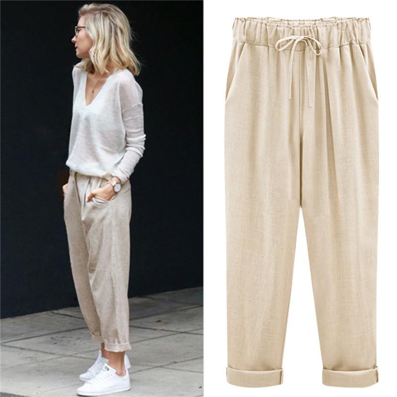 2019 Harem Pants Women High Waist Loose Large Size Pants Female Casual Trousers Plus Size 8xl