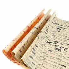 Упаковочная бумага, винтажная бумажная подарочная упаковка, Упаковочная посылка, Рождественская крафт-бумага, цветная книга, аксессуары 75*52 см
