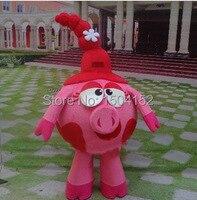 Smesharik nyusha Mascot Costume pink pig Advertising Costume adult size Smesharik nyusha Mascot Costume free shipping