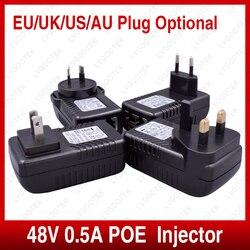 Wysokiej jakości wtryskiwacz POE do kamera ip cctv usa ue Power Over Ethernet przełącznik zasilania POE adapter sieci Ethernet akcesoria do monitoringu w Akcesoria do telewizji przemysłowej od Bezpieczeństwo i ochrona na