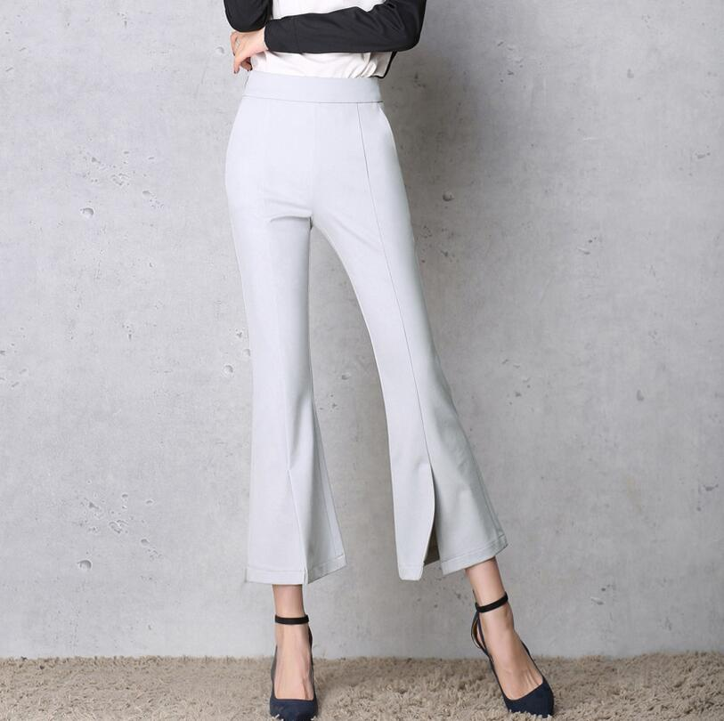 Womens Bell Bottom Pants Office Casual Pull On Bootcut