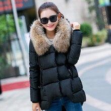 Новая Мода Зимняя Куртка Женщины Длинные хлопок пуховик Пальто Плюс Размер Куртка Дамы С Капюшоном Теплая Верхняя Одежда Хлопок пальто