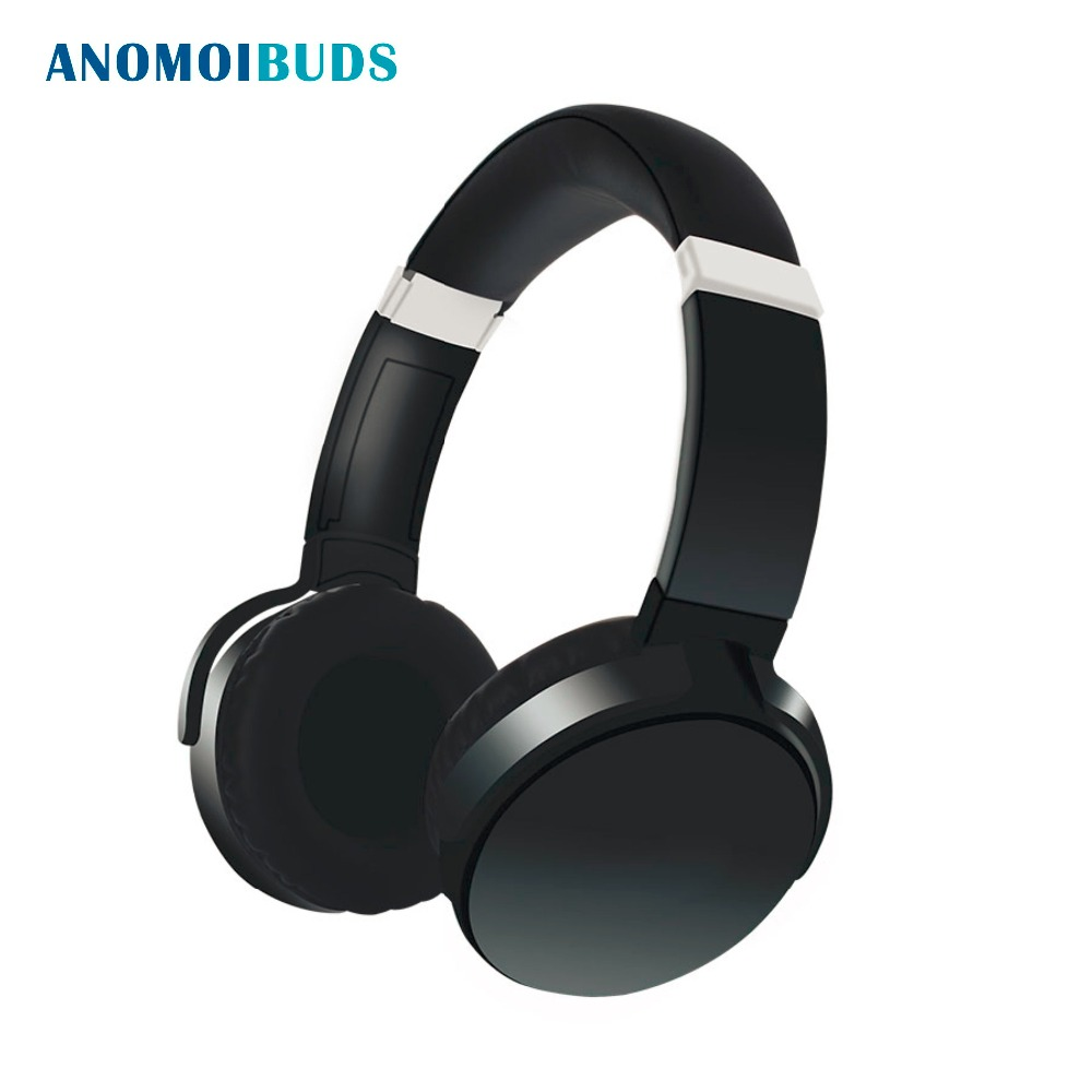 Anomoibuds Bluetooth Wireless Headphones with Mic/TF Card Socket Over Ear Bluetooth 4.2 Stereo Music Headset for TV, Phone ks 508 mp3 player stereo headset headphones w tf card slot fm black