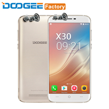 DOOGEE X30 Smartphone MTK6580A Quad Core 2GB RAM 16GB ROM 5.5'' HD 3360mAh Quad Camera 2x8.0MP+2x5.0MP Android 7.0 Mobile Phone(China)
