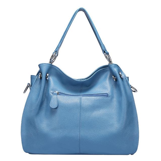 Fashion winter Women Real Genuine Leather Casual Women Handbag Large Shoulder Bag tassel Ladies casual Tote Satchels Purse Bolsa