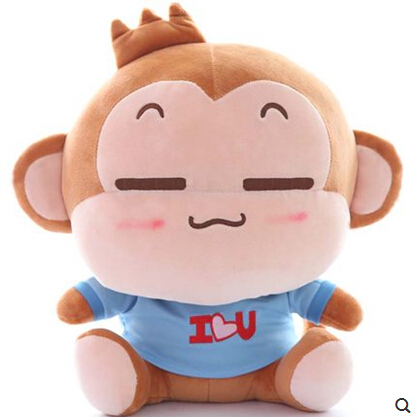 Wholsal Cartoon Plush Monkey Stuffed Toys Cute Monkey Dolls Birthday