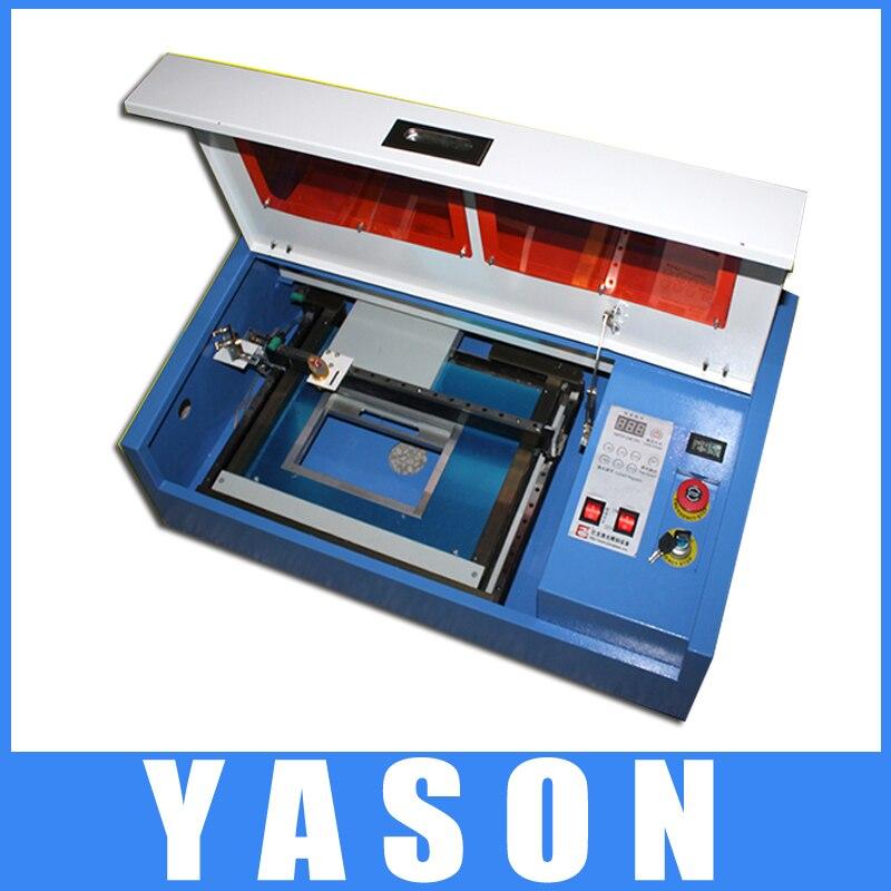 US $530 0 |laser cutter,dremel machine K3020 50W Three axis Silver Rail  precisionsmall craft carving cutting machine computer seal machine-in Wood