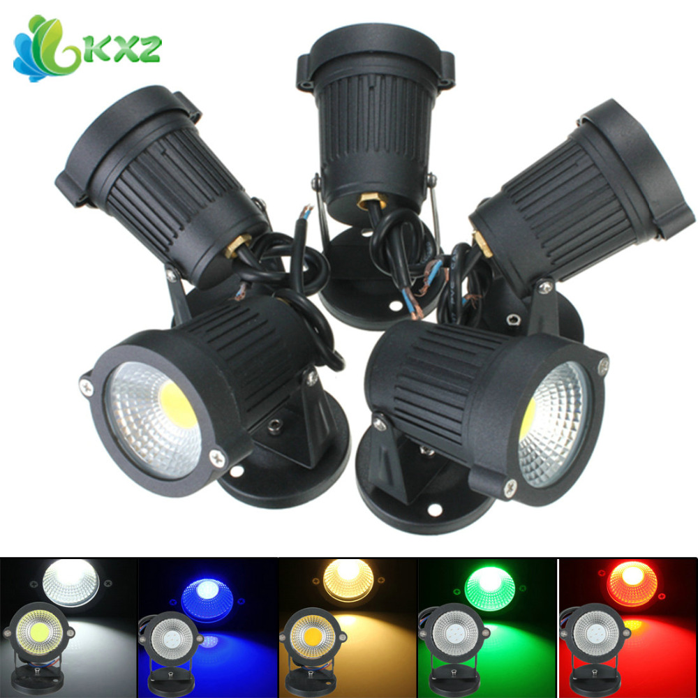 AC85-265V 7W LED Flood Light IP65 Waterproof Outdoor Landscape Garden Street Path Security Lamp Floodlight with Base