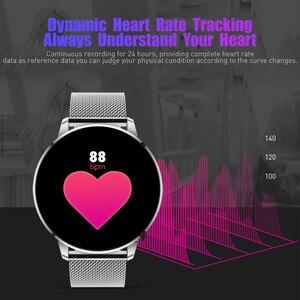 Image 4 - Rundoing Q8 高度な 1.3 インチのカラー画面フィットネストラッカー smart watch 心拍数モニタースマートウォッチ男性ファッション