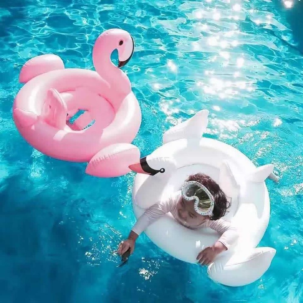 US $12 73 |Cartoon Animals Kids Float Swimming Ring Inflatable Seat Boat  Raft Summer Party Beach Pool Toys For Baby Infants-in Swimming Rings from