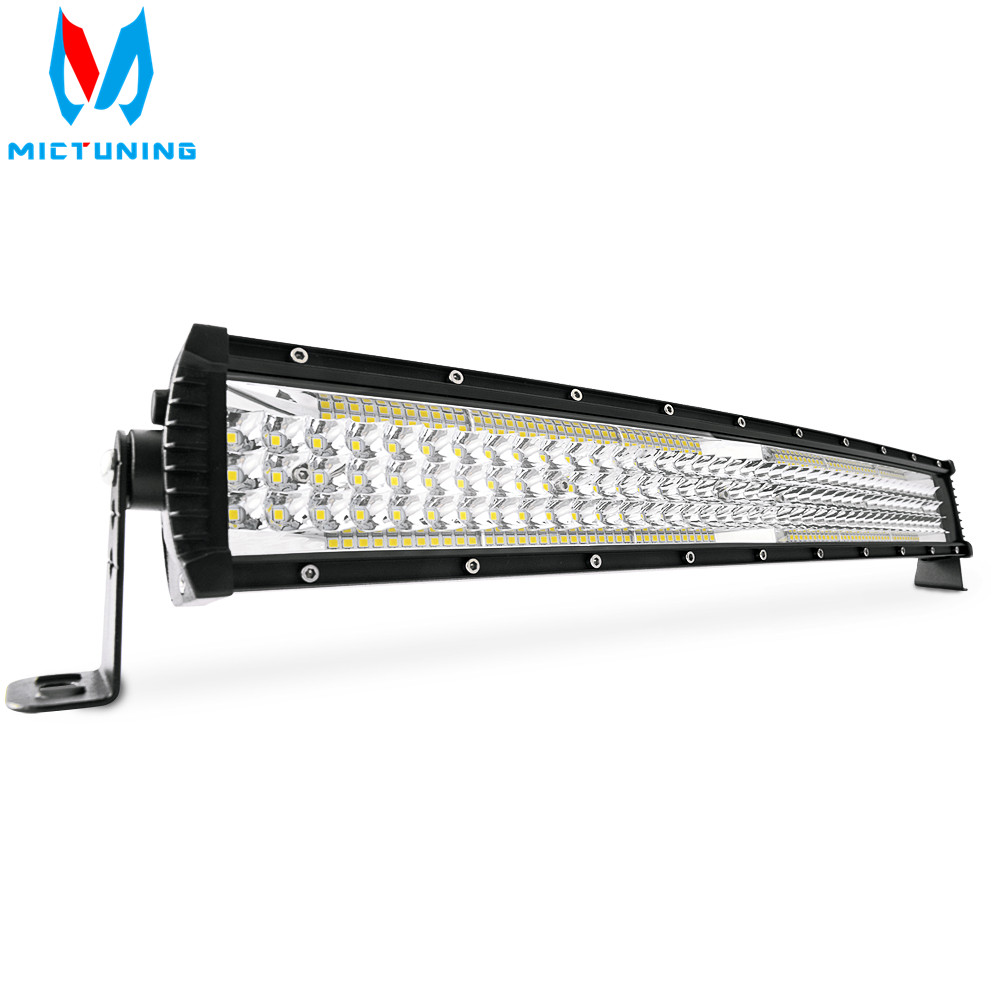 MICTUNING GlowStar 22 5 Row Curved LED Light Bar 13000LM Spot Flood Combo Offroad Driving Fog