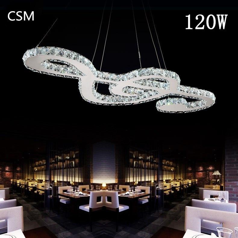 120WModern Simple LED Crystal Chandelier Bar Crystal