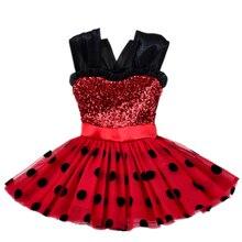 Vestidos de las muchachas Milagrosa de la Mariquita Para Niños de Destello Rojo Vestido Para La Muchacha Cosplay Disfraces Mariquita Marinette Bobo Choses Niños Dot Vestido(China (Mainland))