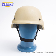 Militech DE Desert Tan PASGT NIJ IIIA 3A Full Cut Ballistic Bulletproof Kevlar Bullet Proof Helmet With Lab Testing Videos