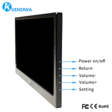 13.3 Inch 1920*1080 HD IPS Monito Slim Portable Gaming Monitor Leather Stand LCD LED PC Use Aluminum Alloy Shell,Mini HDMI Port