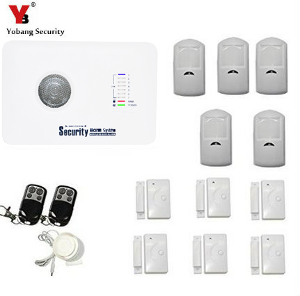 YobangSecurity Wireless 433MHZ GSM SMS Home Burglar Security Alarm System Detector Sensor Kit Remote Control yobangsecurity wireless gsm sms senior telecare home security alarm system with sos call for elderly care mobile phone control