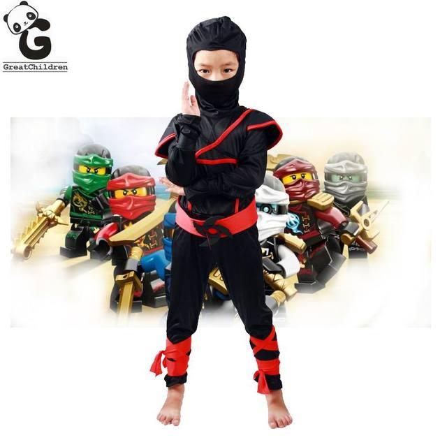 Boys Clothes Sets Legoo Ninjago Cosplay Costumes Children Clothing Set Halloween Christmas Party Clothes Ninja Superhero Suits