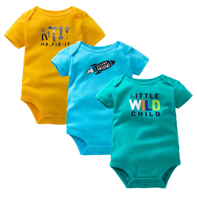 3-Pack Super-cute N Attractive Bodysuits for Baby Boys and Girls | Spring 2017