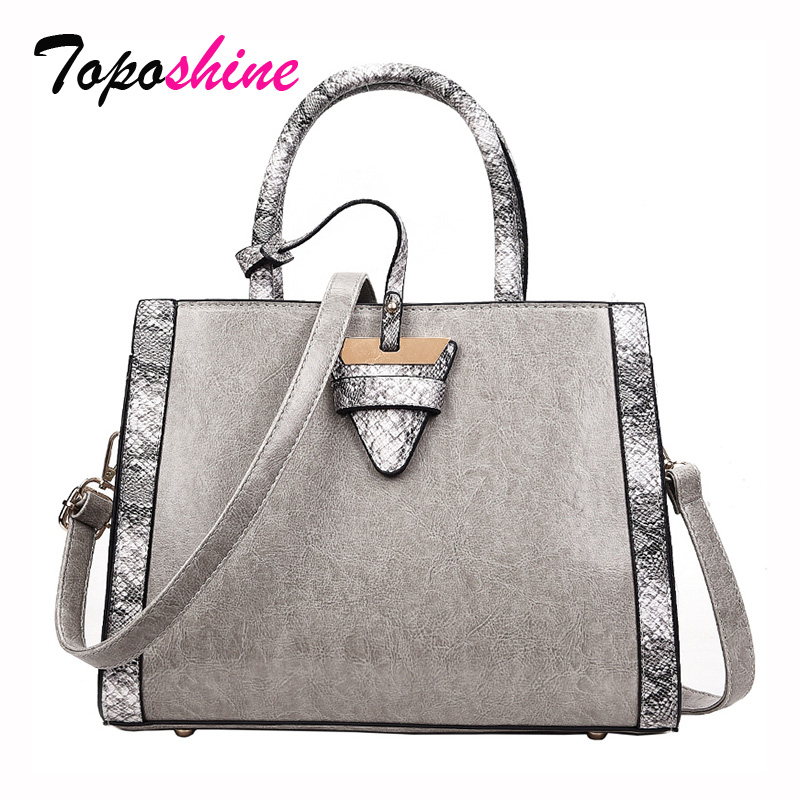 2018 Europe and the United States New Fashion Personality Snake Hit Color Handbag Wild Casual Shoulder Messenger Handbags Tide