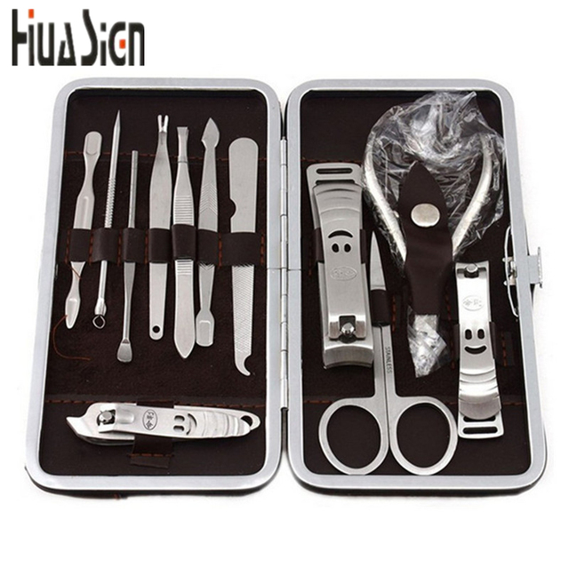 f772402399a7 US $18.16 |12 PCS/set Nail Art Manicure Tools Set Nails Clipper Scissors  Tweezer Knife Manicure Sets Stone Pattern Case for Nail Manicure-in  Clippers ...