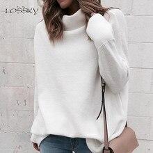 Blanco Jersey De Cuello Alto a un precio increíble