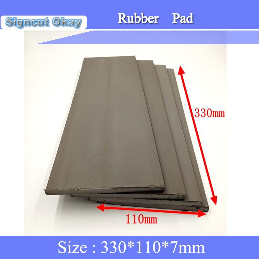 Free Shipping 2pcs/lot Flash Foam Stamp Pad 330 *110*7mm Photosensitive Seal Laser Rubber Sheet Pad