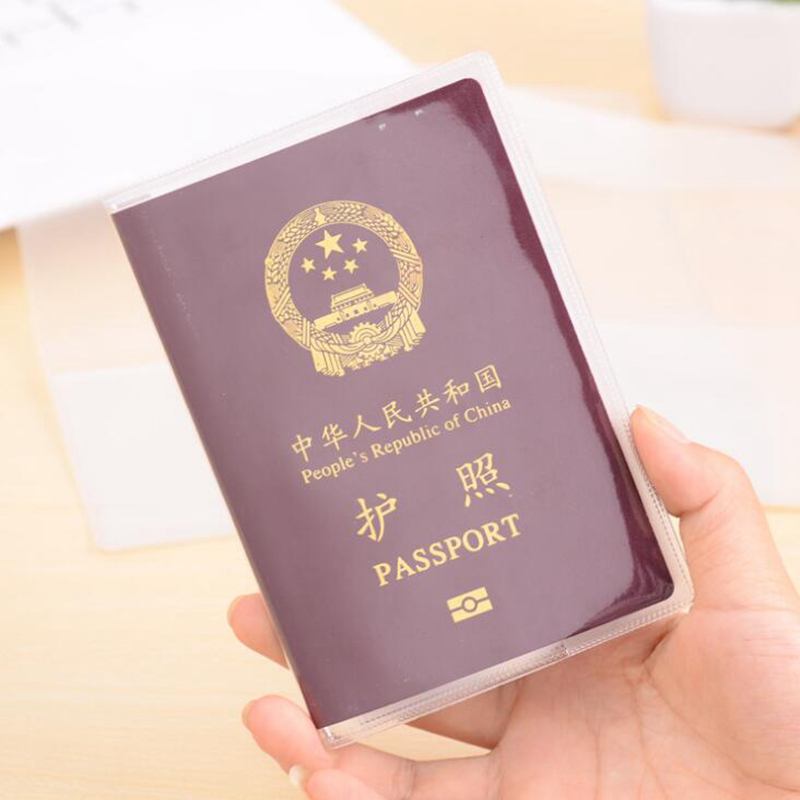 Transparent Passport Cover Women Passport Holder PVC Casual Travel Accessories Credit Id Card Case Business Pass Holder Wallet