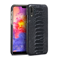 Редкие природного страусиной кожи ног чехол для телефона для Huawei P20 pro P20 lite P10 lite половина пакет из натуральной кожи защиты оболочки телефон