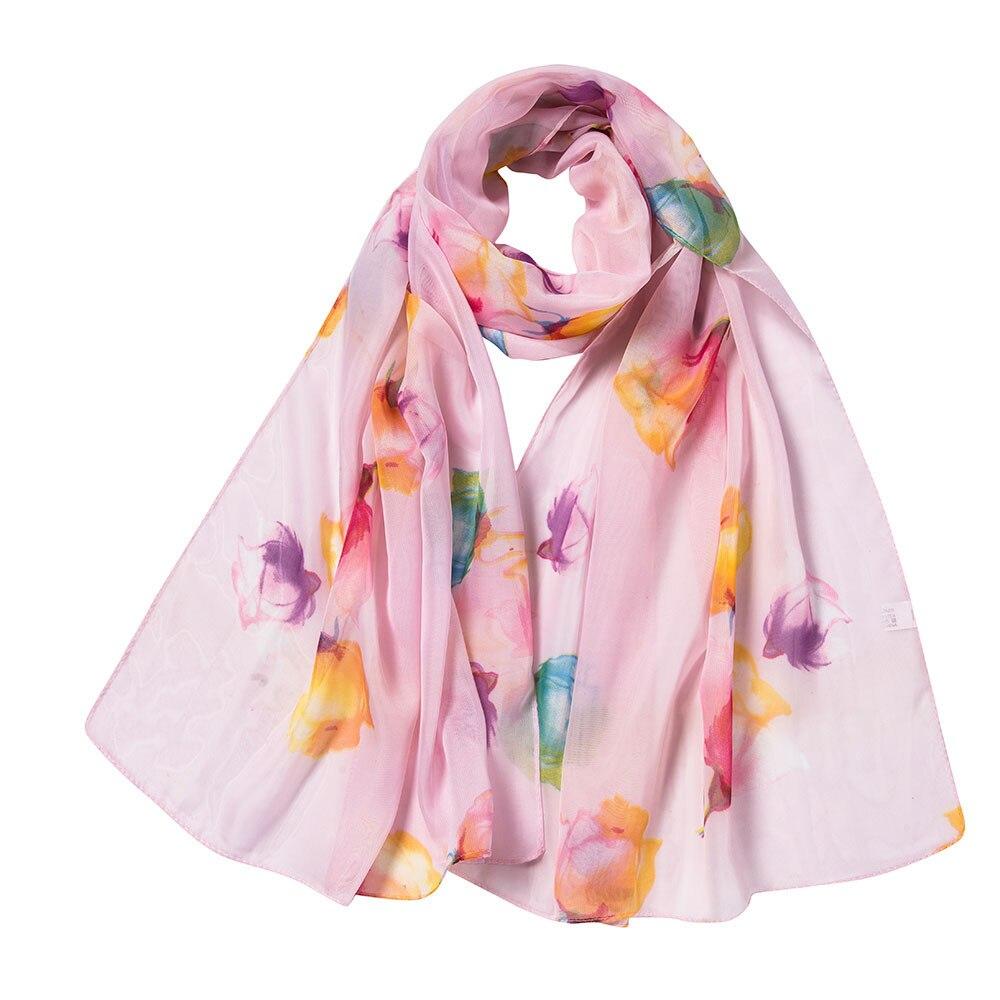 Women   Scarves   Soft   Wraps   Printed Soft Chiffon Shawl   Wrap     Scarf   Breathable Chiffon   Scarves   Exquisite Shawls Elastic   Wrap   Fashion
