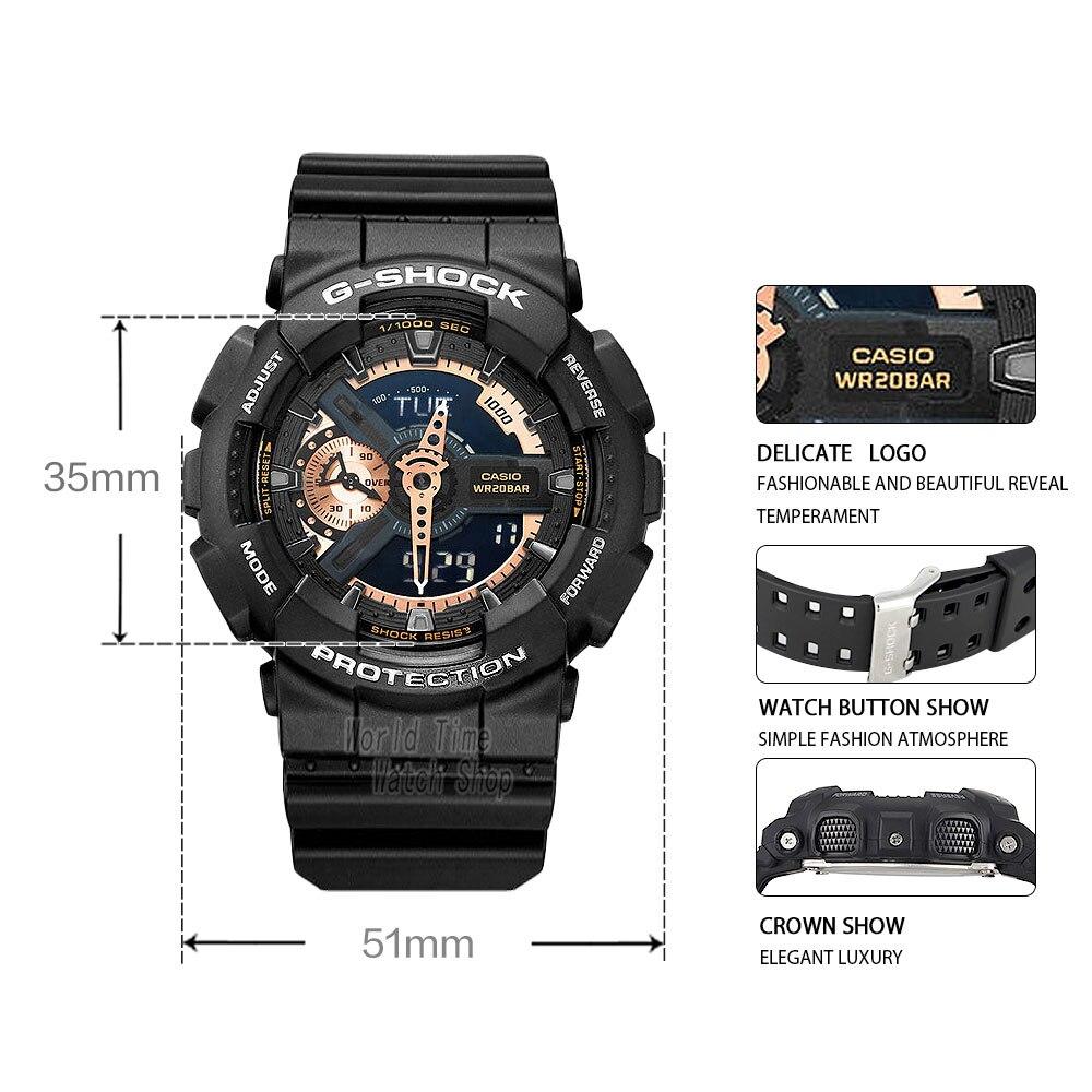 5e7c738c63b Casio watch G SHOCK Men s quartz sports watch large dial waterproof outdoor g  shock Watch GA 110RG-in Quartz Watches from Watches on Aliexpress.com ...