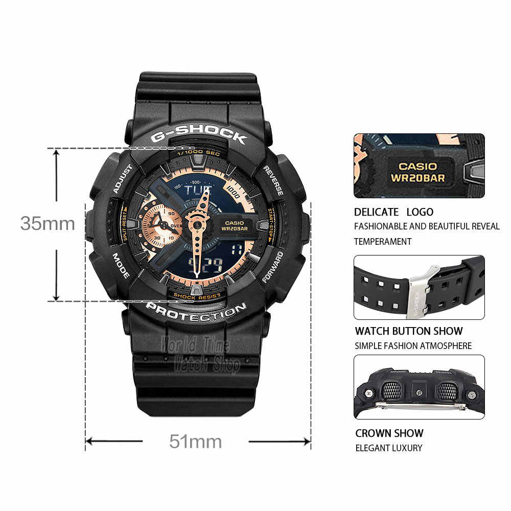 Casio Watch G Shock Men S Quartz Sports Watch Large Dial Waterproof Outdoor G Shock Watch Ga 110rg