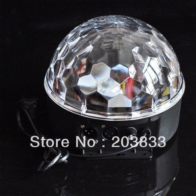 DMX512 LED Multi-color Disco DJ Lighting Digital RGB Crystal Magic Ball Stage Effect Light