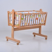 Экспорта твердой древесины белого цвета сплошной цвет детская кроватка с детские постельные принадлежности