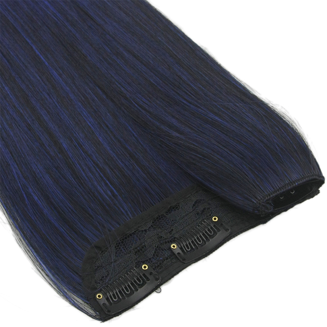 """24"""" Colorful Straight Synthetic Clip-in Hair Extension"""