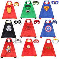 Marvel Avengers Abbildung Super Heros Cosplay Umhang Cape Schal Captain America Spider man Thor Hulk Halloween Cosplay Spielzeug Auge Maske