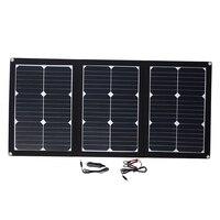 Amzdeal прочный 60 Вт 18 В складной солнечной панели аварийного Питание Панели солнечные USB DC Порты и разъёмы Солнечные генераторы Солнечный свет