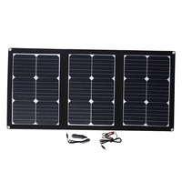 Amzdeal Durable 60W 18V Folding Solar Pane Emergency Power Supply Solar Panel USB DC Port Solar Generator Solar Light Outdoor