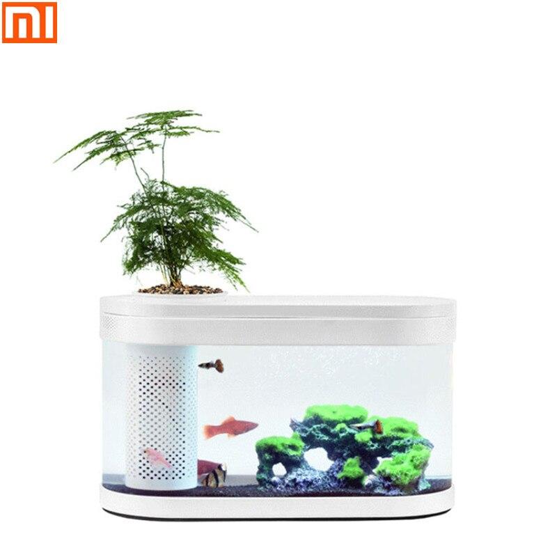 XM, XIAOMI Geometria Aquaponia Ecossistema Pequeno Jardim Da Água Do Tanque de Peixes Ecológica Aquário Do Tanque de Peixes Do Aquário Transparente