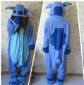Designer lilo kawaii Anime Animal Azul Ponto Pijama Adulto Unissex Mulheres Homens Macacão de Poliéster Polar Fleece Uma Peça Sleepwear
