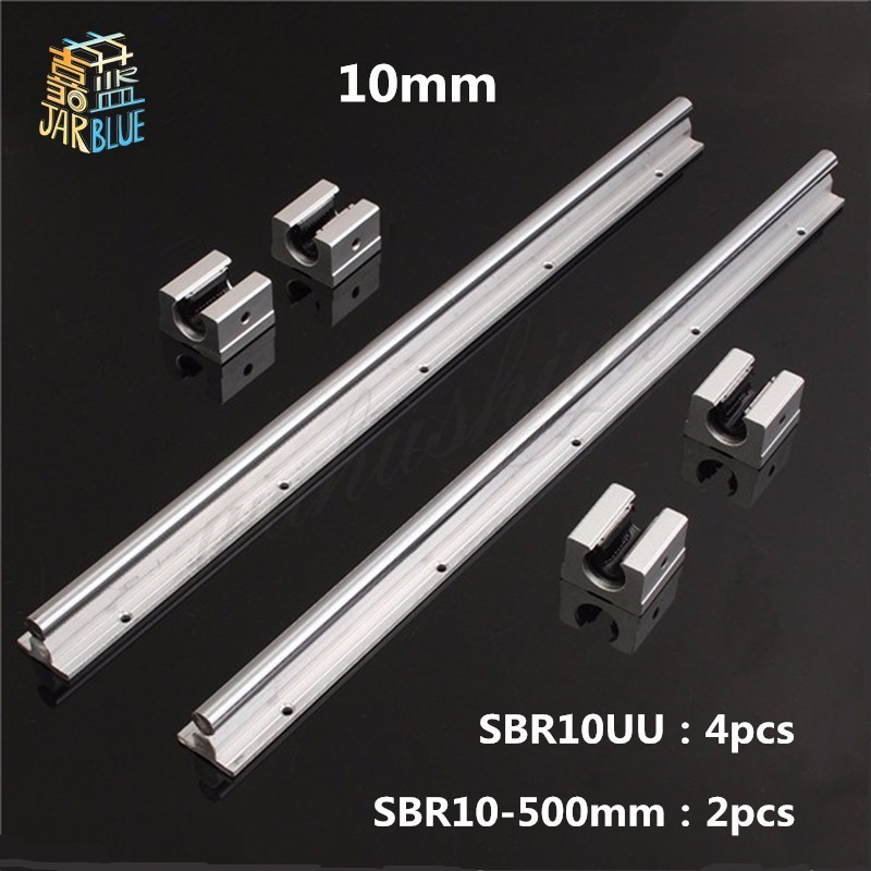 Free Shipping  2pcs SBR10 L 500mm linear rail support with 4pcs SBR10UU linear guide auminum bearing sliding block cnc partsFree Shipping  2pcs SBR10 L 500mm linear rail support with 4pcs SBR10UU linear guide auminum bearing sliding block cnc parts