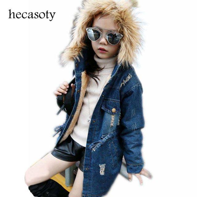d3394e2b8 Children s Clothing Jeans Coat for Girls Denim Jackets Soild ...