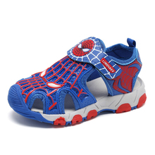 Rubber Closed Toe Sandals for Boys Children Summer Fashion Kids Casual Sports Cartoon Spiderman Shoes
