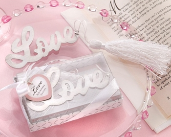 100pcs Wedding Favors and gifts Love Wedding favours Boxes Bookmarks Bridal Shower Wedding Gifts for Guests Giveaway Presents